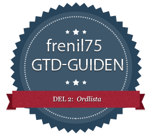 GTD-guiden - 2 - Ordlista